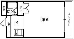 ユウパレス取石[1階]の間取り