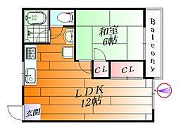 ビスタ新芦屋[3階]の間取り