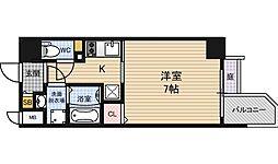 エスリード福島ラグジェ 9階1Kの間取り