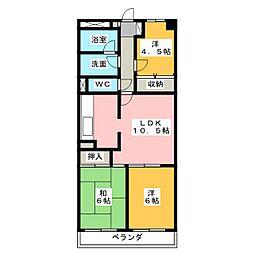 藤和シティコープ桑名駅前1204[12階]の間取り