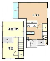 [一戸建] 神奈川県横須賀市鴨居1丁目 の賃貸【/】の間取り