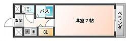 シャトレ豊津I[3階]の間取り