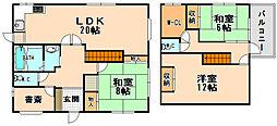[一戸建] 兵庫県伊丹市鈴原町7丁目 の賃貸【/】の間取り