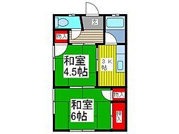 泉荘[203号室]の間取り