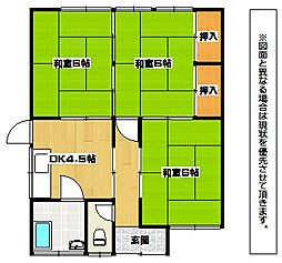 福岡県北九州市小倉北区熊谷3丁目の賃貸アパートの間取り