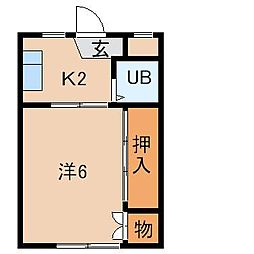 和歌山県和歌山市松江中3丁目の賃貸アパートの間取り