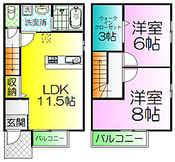 [テラスハウス] 大阪府堺市堺区京町通 の賃貸【/】の間取り