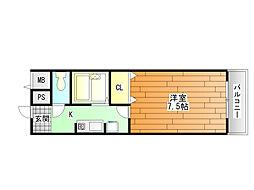 DH白鳥ビル[7階]の間取り