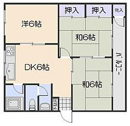 大原マンション[2階]の間取り