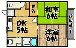 [テラスハウス] 兵庫県川西市新田3丁目 の賃貸【/】の間取り
