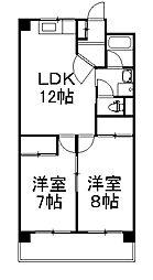 コーポ円城寺[305号室]の間取り