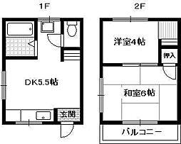 ダ—チヤ服部[2階]の間取り