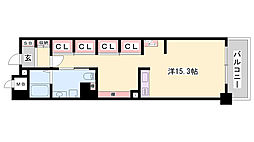 JR東海道・山陽本線 姫路駅 バス10分 元町3丁目下車 徒歩4分の賃貸マンション 3階ワンルームの間取り