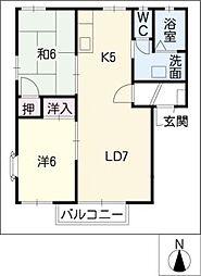 リヴァII[2階]の間取り