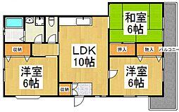 小野アパート[2階]の間取り