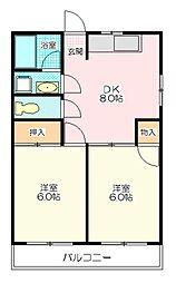 鍋島マンション[2階]の間取り
