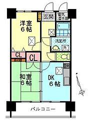 ルネス中野マンション[605号室]の間取り