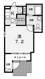 カーサ カイラ[1階]の間取り
