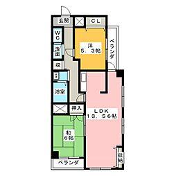 ラフォーレ堅田[2階]の間取り