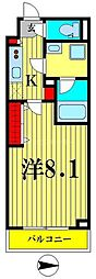 東京メトロ半蔵門線 住吉駅 徒歩5分の賃貸マンション 7階1Kの間取り