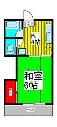 都ハイム[1階]の間取り