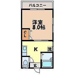 長崎県長崎市昭和3丁目の賃貸アパートの間取り