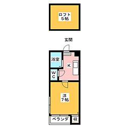 K&Y井尻弐番館[2階]の間取り