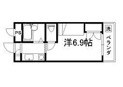 セレーネ田辺3A[103号室]の間取り
