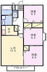 シュメール上屋敷B[2階]の間取り