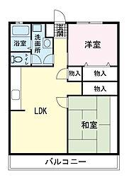 三恵マンション[0403号室]の間取り