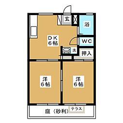 アノダハイツ[1階]の間取り