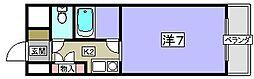 共栄ハイツ 第5[3階]の間取り