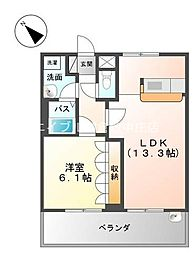 岡山県倉敷市連島2丁目の賃貸アパートの間取り