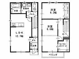 [タウンハウス] 香川県観音寺市出作町 の賃貸【/】の間取り