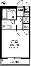パラシオン椎名町[206号室]の間取り