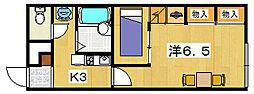 レオパレス青龍[1階]の間取り