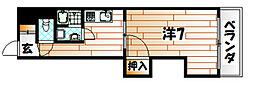 キャッスル折尾[3階]の間取り