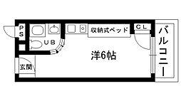 ピュアハウス甲子園[403号室]の間取り