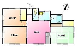 中溝アパート[1階]の間取り