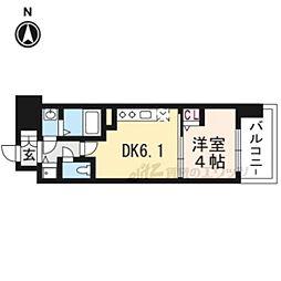 アスヴェル京都太秦410 4階1DKの間取り