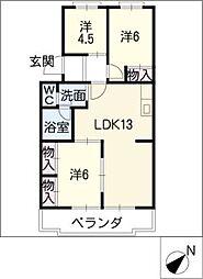 レスポワール石川A[2階]の間取り