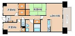 兵庫県神戸市西区井吹台東町2丁目の賃貸マンションの間取り