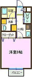 ルミナス祇園I[106号室]の間取り