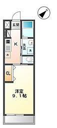 袖ケ浦市代宿97番5他新築アパート[202号室]の間取り