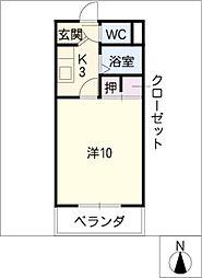 第6ハイツ・タマキ[2階]の間取り