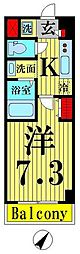 WAVE西新井 3階1Kの間取り