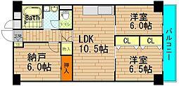 レック西長堀マンション[2階]の間取り