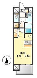 プレサンス久屋大通セントラルパーク[12階]の間取り