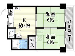 エリータ桃山台[3階]の間取り