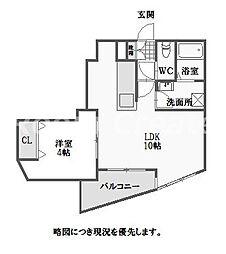 徳島県徳島市昭和町8丁目の賃貸アパートの間取り